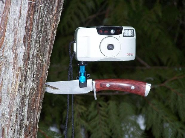 Camera mounted to a knife
