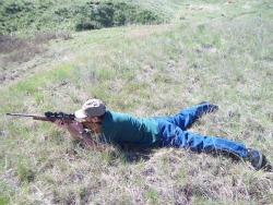 Shooting from prone position