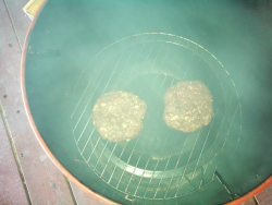 Smoking Ground Meat Patties