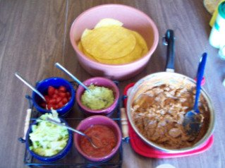 Served with guacamole, lettuce, tomatoes and salsa